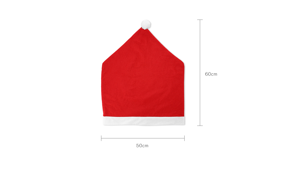 Yeduo Hort Santa Claus Hat Chair Covers Christmas Dinner Table Party- Red