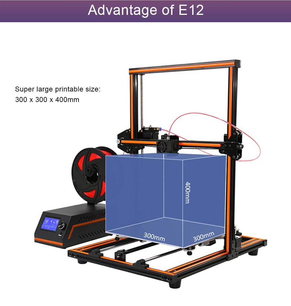 Image result for Anet E12 Large Size 300 x 300 x 400 3D Printer DIY Kit
