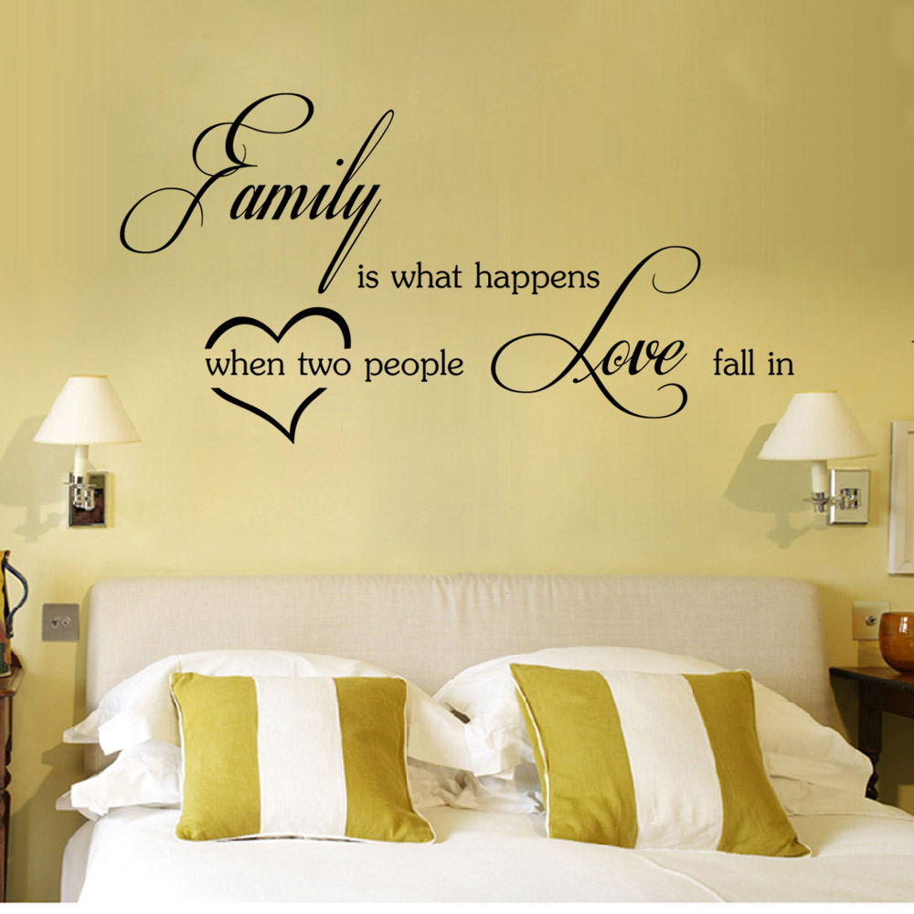 DSU Love Family Wall Sticker Self-adhesive Wallpaper Art Home Decal ...