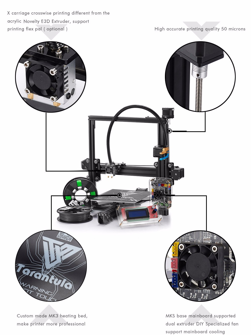 1509700447209466 tevo tarantula 3d printer diy kit us plug $299 99 online shopping tevo tarantula wiring diagram at aneh.co