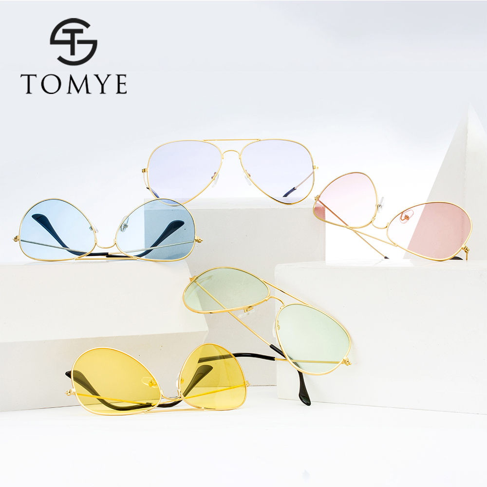 TOMYE 3026A Candy Color Casual Aviator Sunglasses for Women