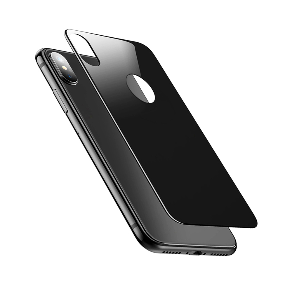 sports shoes ef444 300cf 0.3mm 9H Hardness 3D Full Screen Coverage Back Tempered Glass Protector for  iPhone X