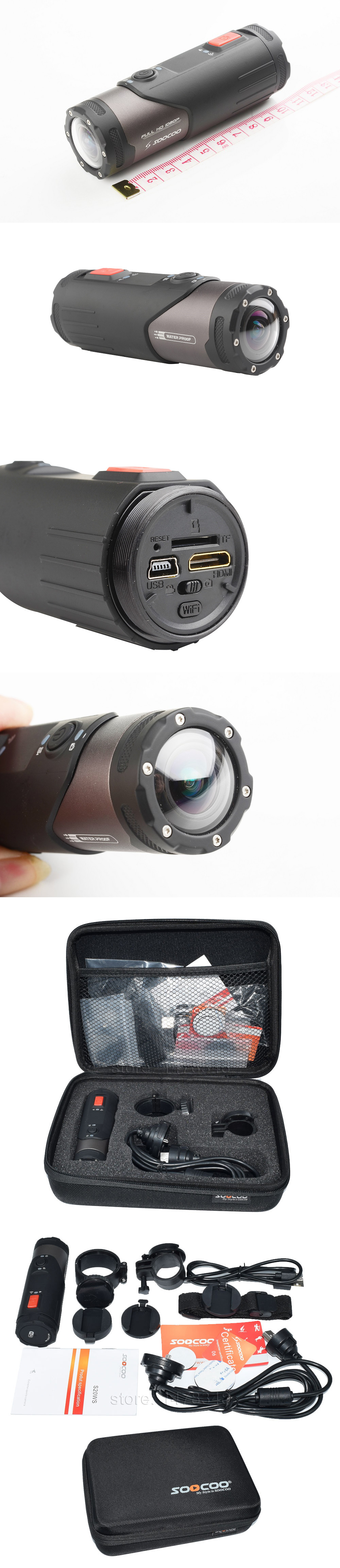 SOOCOO S20WS Mini Camera Built-In WiFi Full HD 1080P 10M Wateproof ...