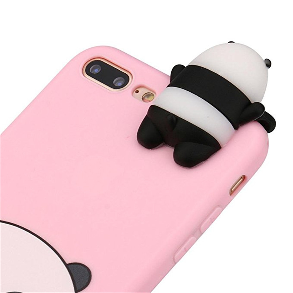 1386ff1963 3D Cartoon Animals Cute Bare Bears Soft Silicone Case Skin for iPhone 7  Plus / 8