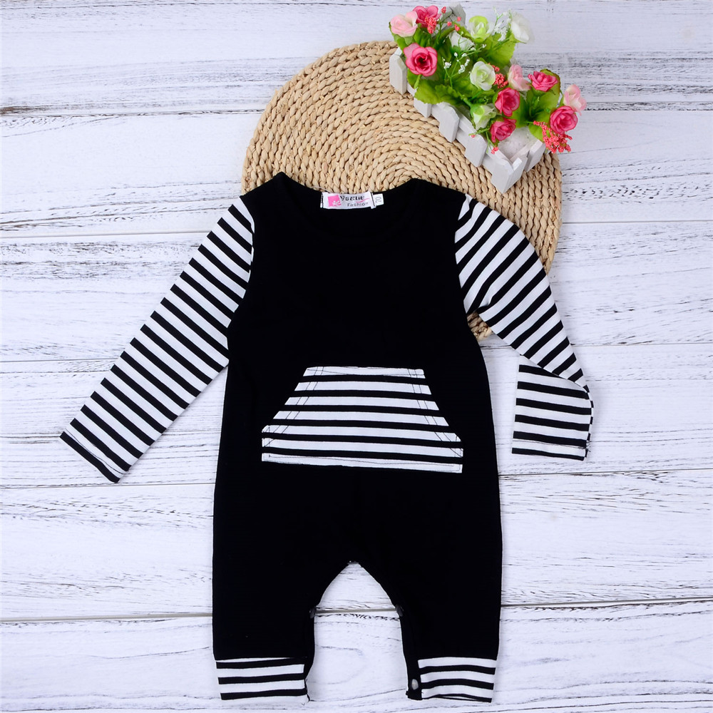 a2d587c1955e Pattern Style  Striped Sleeve Length  Full Collar  Round Neck Closure Type   Pullover Season  Autumn Package Contents  1 x Baby Romper