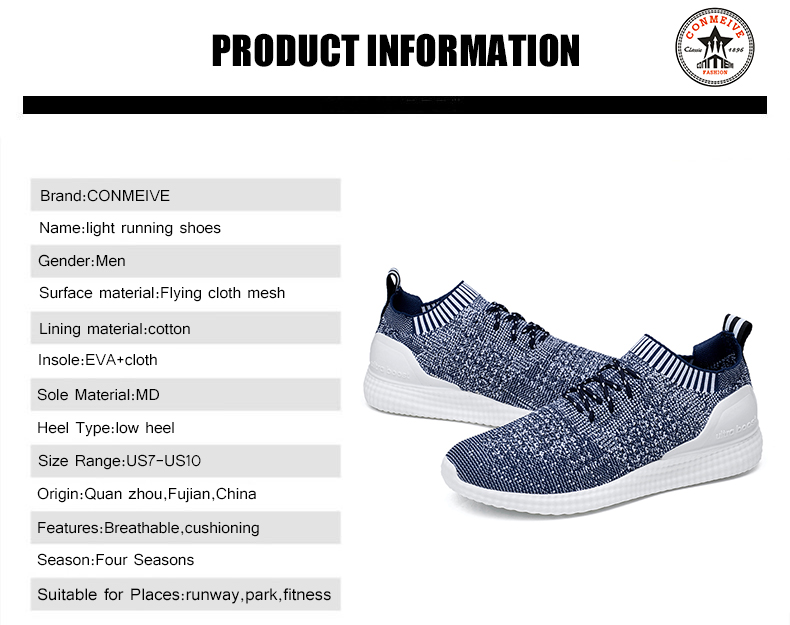 Spring Autumn Breathable Mesh Light Running Shoes for Men Lace-On Sports  Shoes Low Super