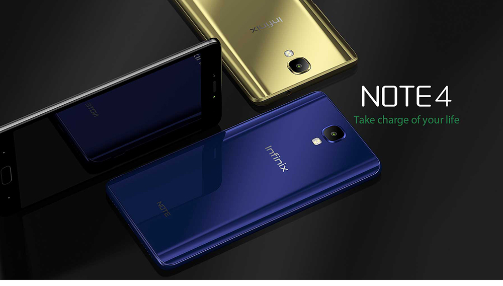 Infinix Note 4 ( X572 ) 4G Phablet Global Version Android 7.0 5.7 inch MTK6753 Octa Core 1.3GHz 3GB RAM 32GB ROM 13.0MP Rear Camera Fingerprint Scanner