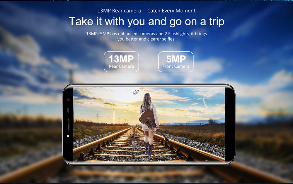 OUKITEL C8 4G Smartphone Android 7.0 5.5 inch MTK6737 Quad Core 1.3GHz 2GB RAM 16GB ROM Touch Sensor 8.0MP Rear Camera - Pink