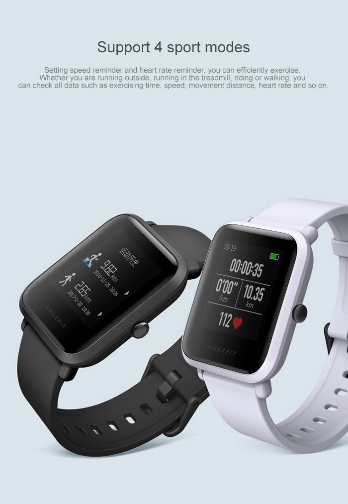 Original Xiaomi Huami AMAZFIT Smartwatch International Version with Corning Gorilla Glass Screen Heart Rate / Sleep Monitor Geomagnetic Sensor GPS
