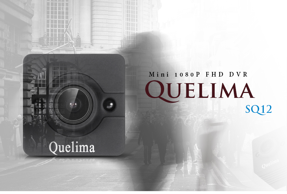 Quelima SQ12 Mini Dash Cam 155 Degrees 1080P FHD DVR