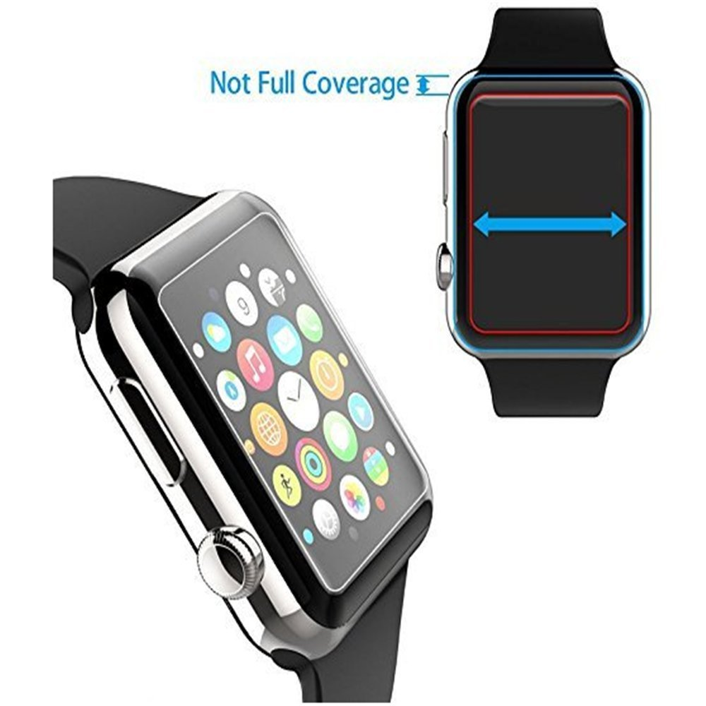 Tempered Glass Screen Protector Protective Film For Apple Watch Temperglass Series 3 42mm Transparent