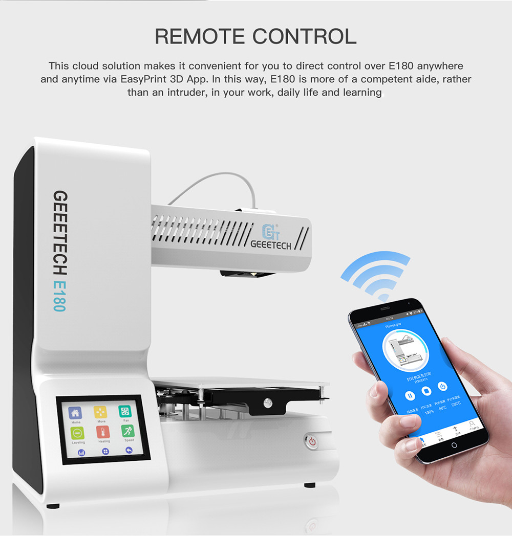 Geeetech E180 Mini 3D Printer with WiFi Module