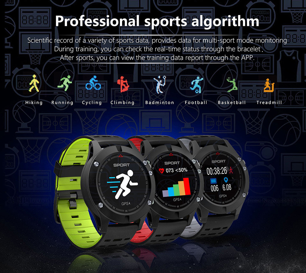 NO.1 F5 Heart Rate Monitor Smart Watch GPS Heart Rate Monitor Wristband  no.1 f5, noul smartwatch cu gps intra in oferta magazinelor