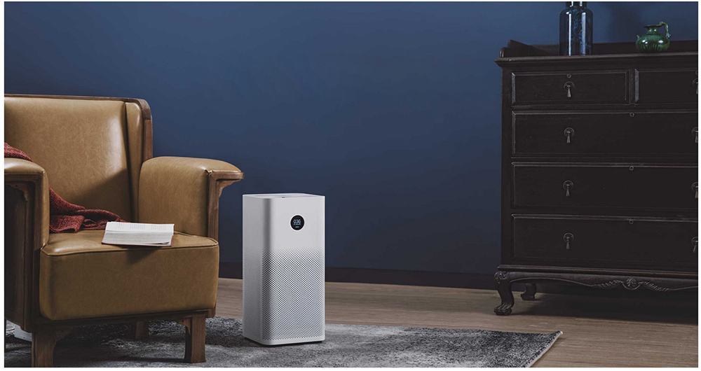 Original Xiaomi Smart Air Purifier 2S OLED Display Smartphone Mi Home APP Control Smoke Dust Peculiar Smell Cleaner - White