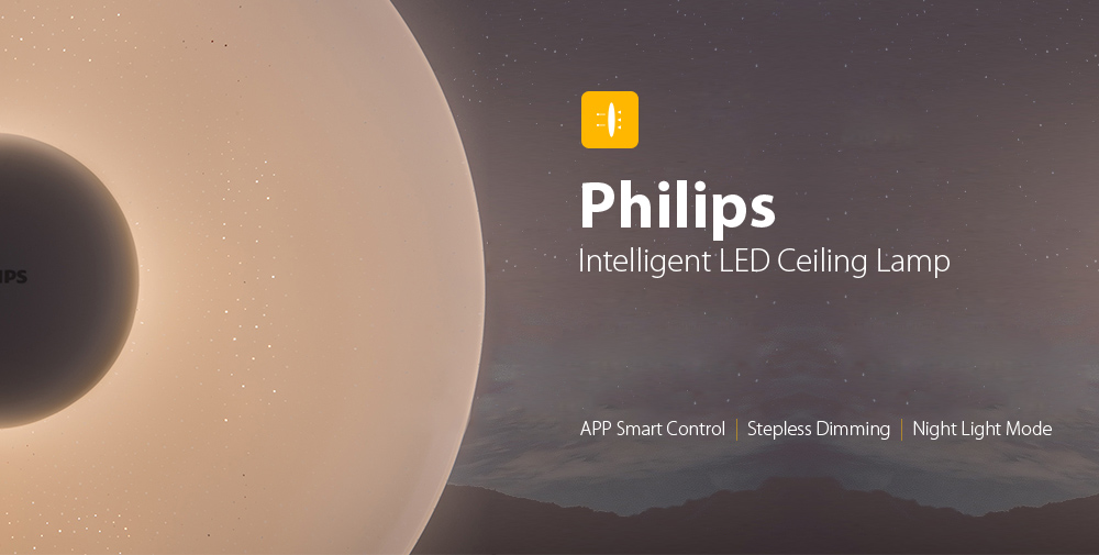 Philips LED Ceiling Lamp Dust Resistance App Wireless Dimming AC 100 - 240V