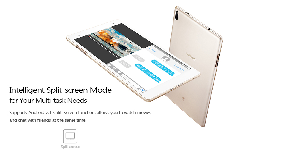 Lenovo Xiaoxin TB - 8804F Tableta 8.0 inch Android7.1 Snapdragon625OctaCore 2.0GHz 4GB RAM 64GB ROM Dual WiFi