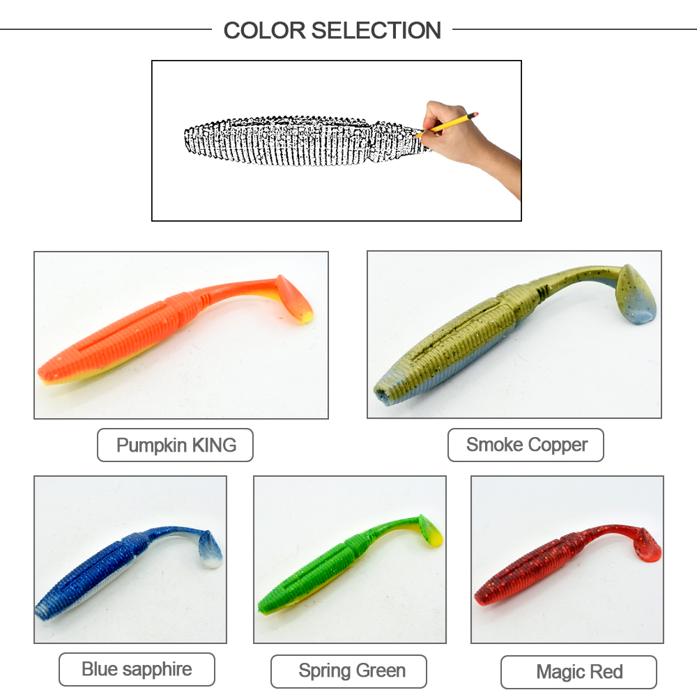 HONOREAL High Quality 7.5cm Shrimp Flavour and UV Soft Fishing Lure 6PCS