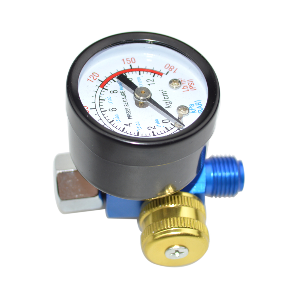High-Quality Blue Pneumatic Tools General Pressure Regulator Instrument Pressure Gauge