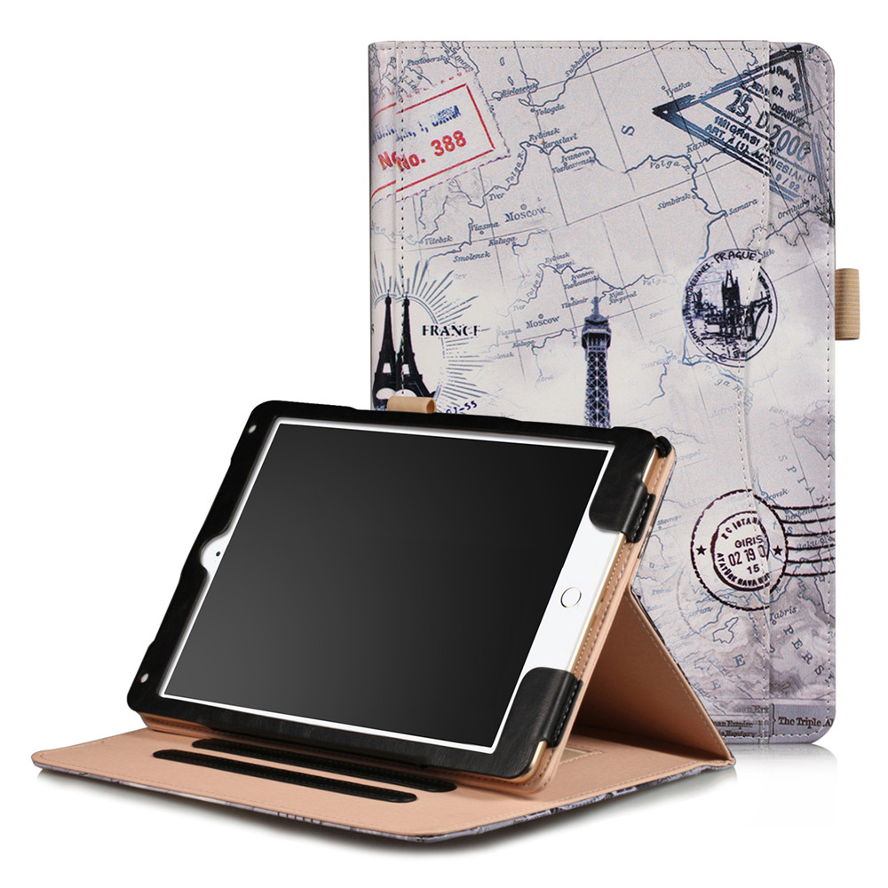 Leather Case for iPad Air 2 9.7 inch with Auto Sleep / Wake Function