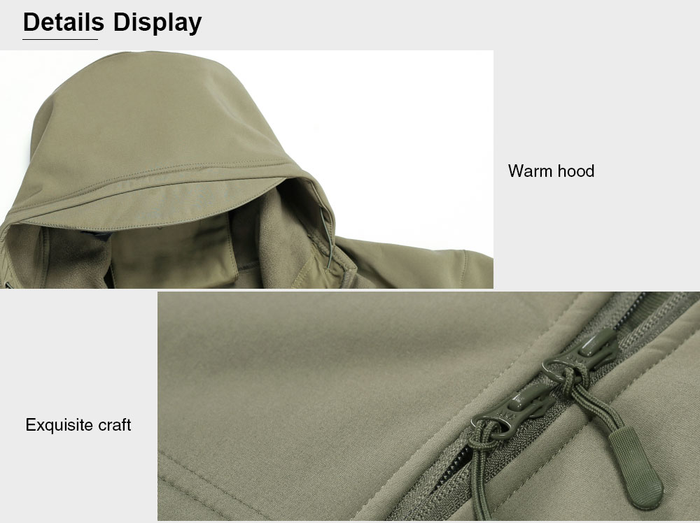 Male Windproof Outdoor Military Jacket