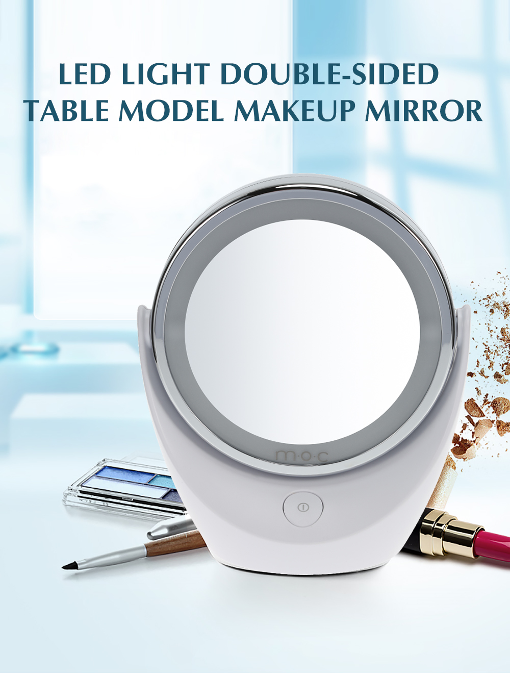 LED Light Table Model Makeup Mirror
