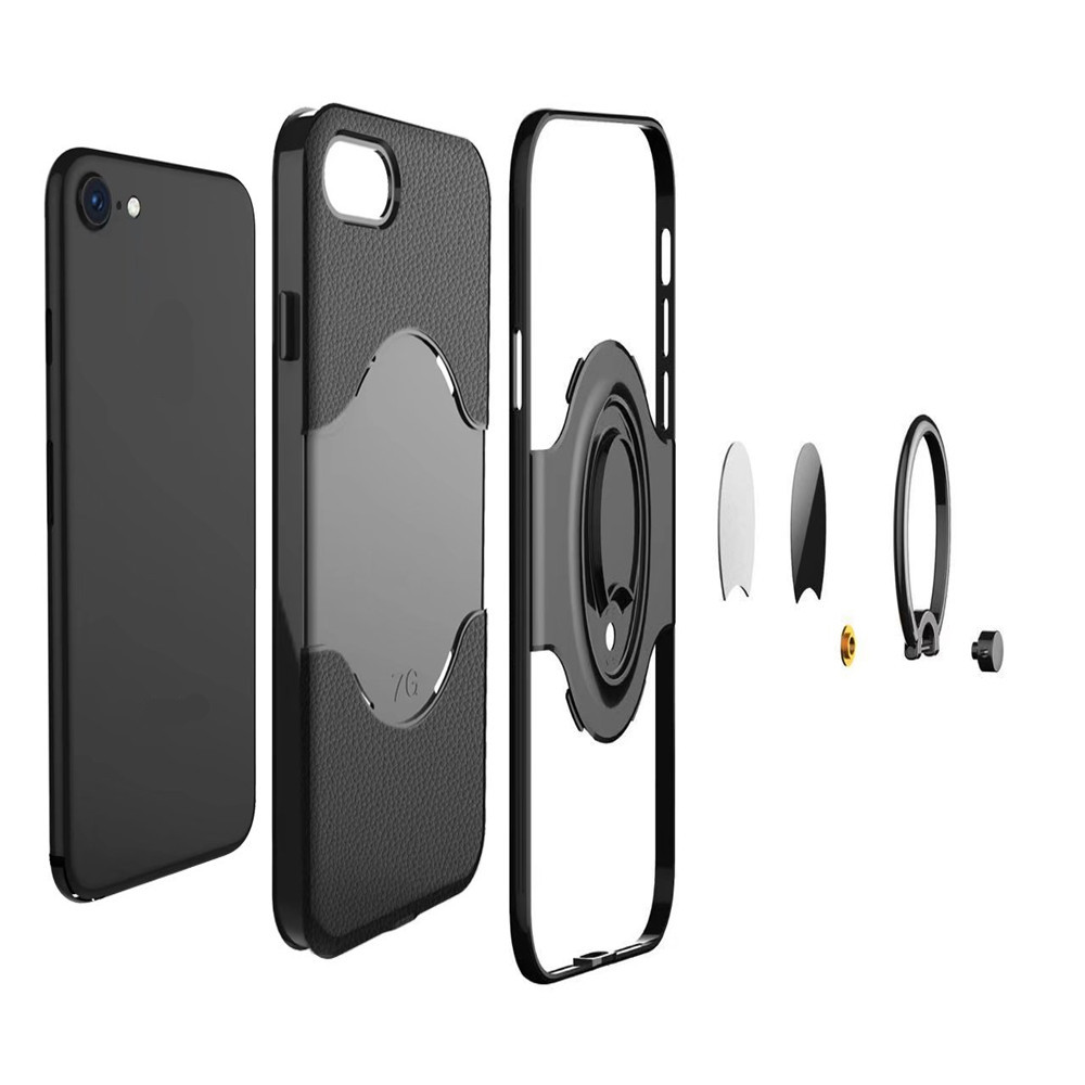Shock Absorption Dual Cover Design Phone Ring Holder Anti-Scratch Protective for iPhone 7 / 8 Case