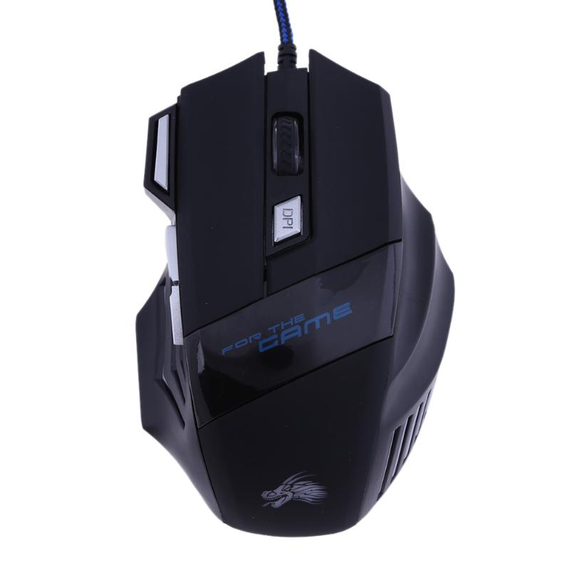 Professional Wired Gaming Mouse 7 Button 5500 DPI LED Optical USB Gamer Computer Mice Cable