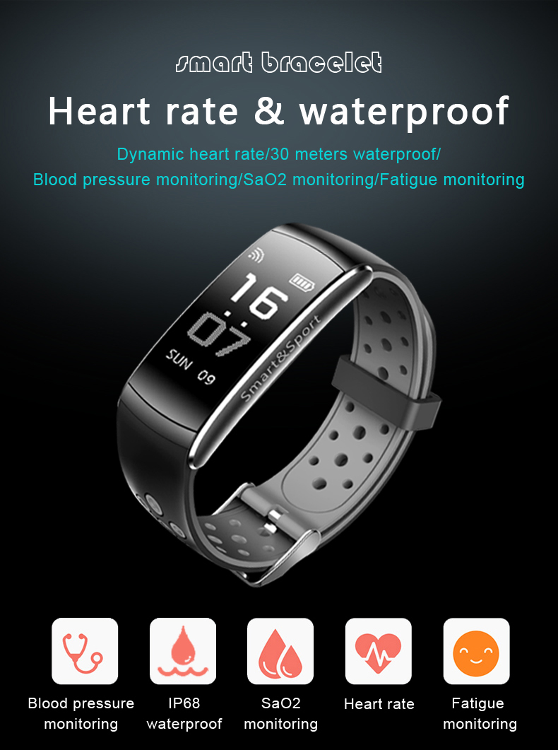 Z11 Smart Bracelet Blood Pressure Heart Rate Monitor Fitness Tracker Bluetooth Wristband IP68 Waterproof  Sport Smartband
