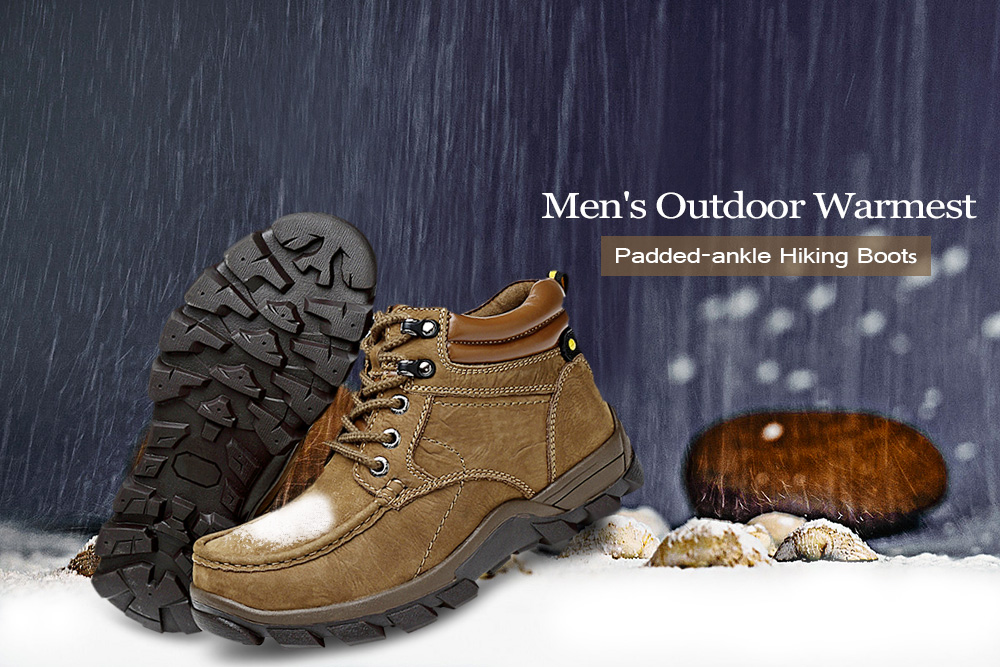 Men's Outdoor Warmest Padded-ankle Hiking Boots