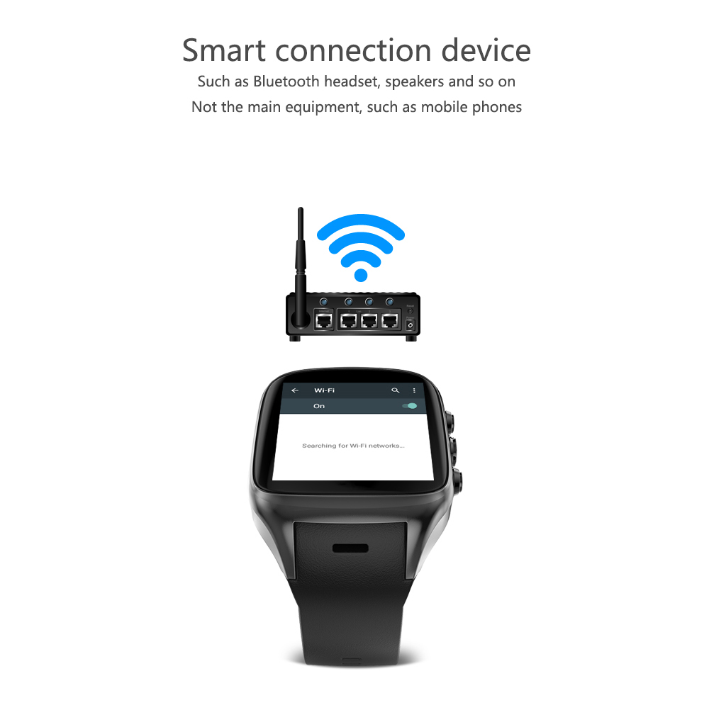 Ourtime X01 AIR 3G Smartwatch Phone 1.54 inch Android 5.1 MTK6580 1.3GHz Quad Core 8GB ROM 2.0MP Camera GPS Bluetooth WiFi