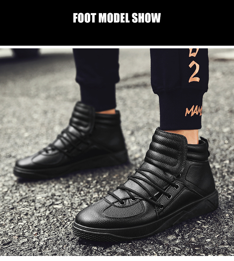 Personality Trend High Neck Board Shoes Man