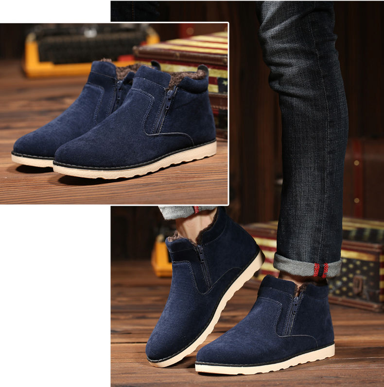 Autumn and Winter Plus Velvet Warm Sports Men'S Shoes