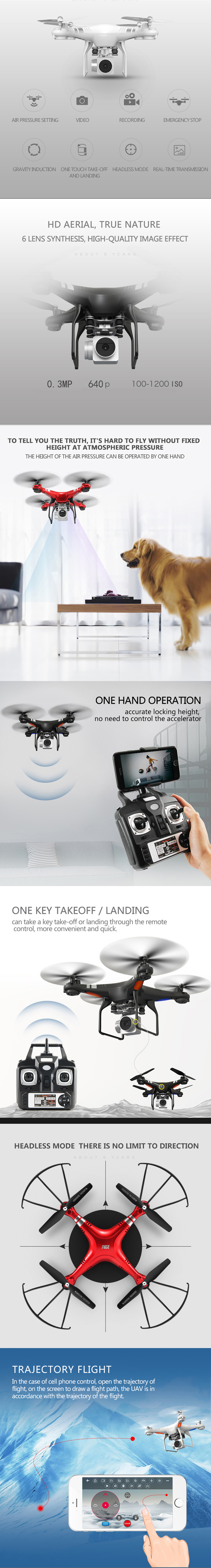 Rc Drone With 03mp Hd Wifi Camera Height Holding One Key Mode Bayangtoys X 16 Gps 2 Mega Pixel Putih