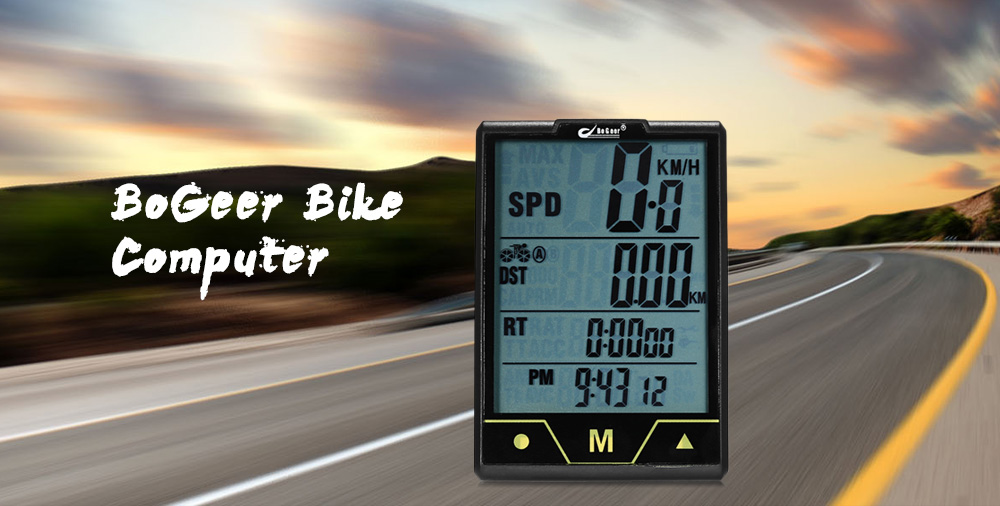 BoGeer 328 Wired Bike Computer Multifunctional Water-resistant Cycling Odometer with Touch Screen