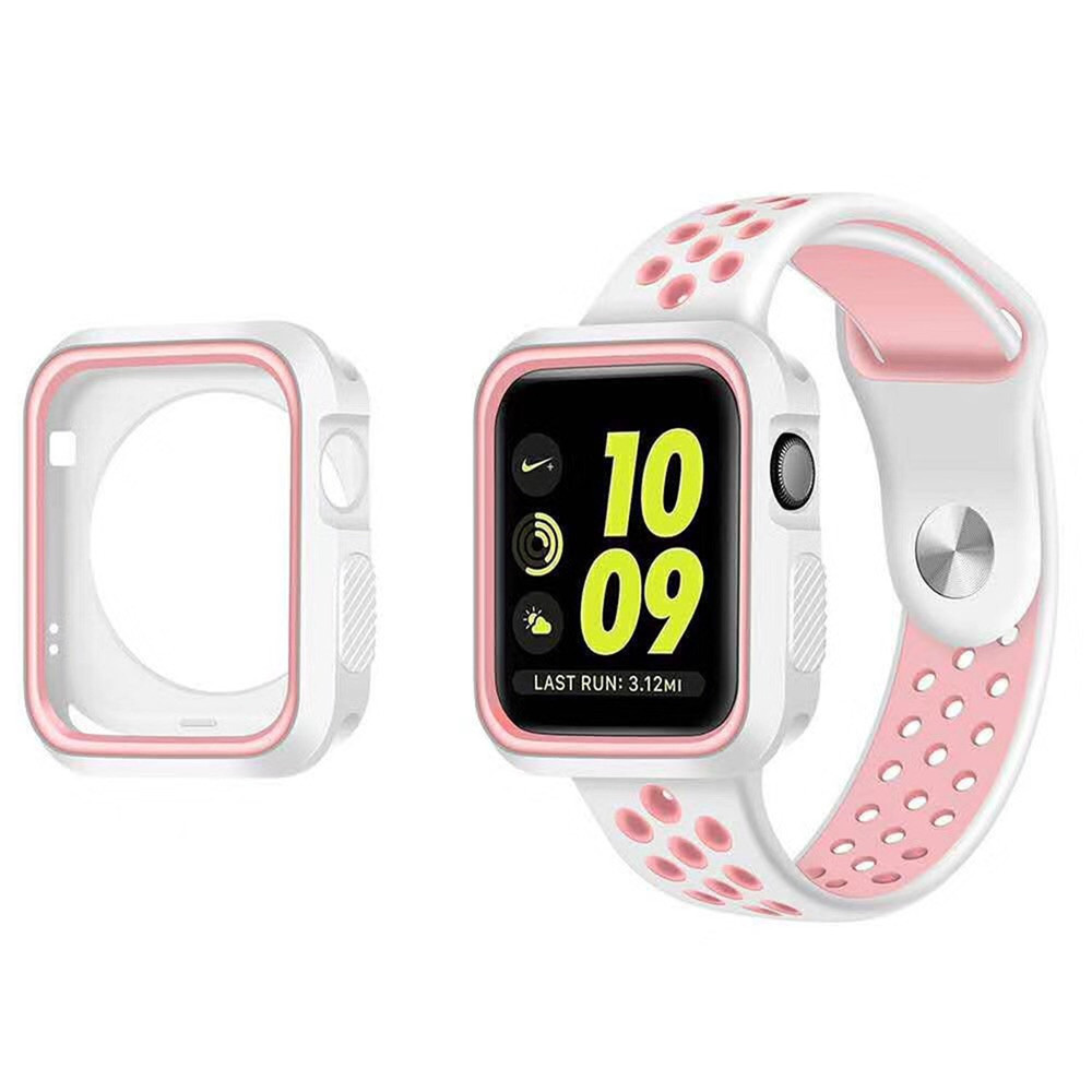 Sports Silicone Protective Case Cover Band Strap for Apple Watch Series 3/2/1