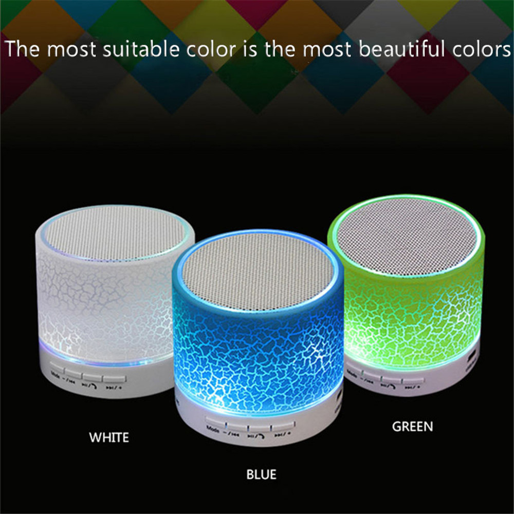LED Bluetooth Speaker Wireless Speakers Hands Free Subwoofer Loudspeakers Musical Audio For Phone With Mic TF USB FM