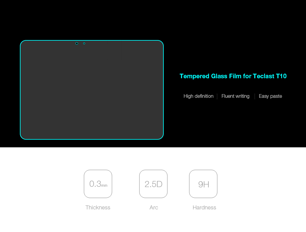 Ultra-thin Tempered Glass Protective Film for Teclast T10