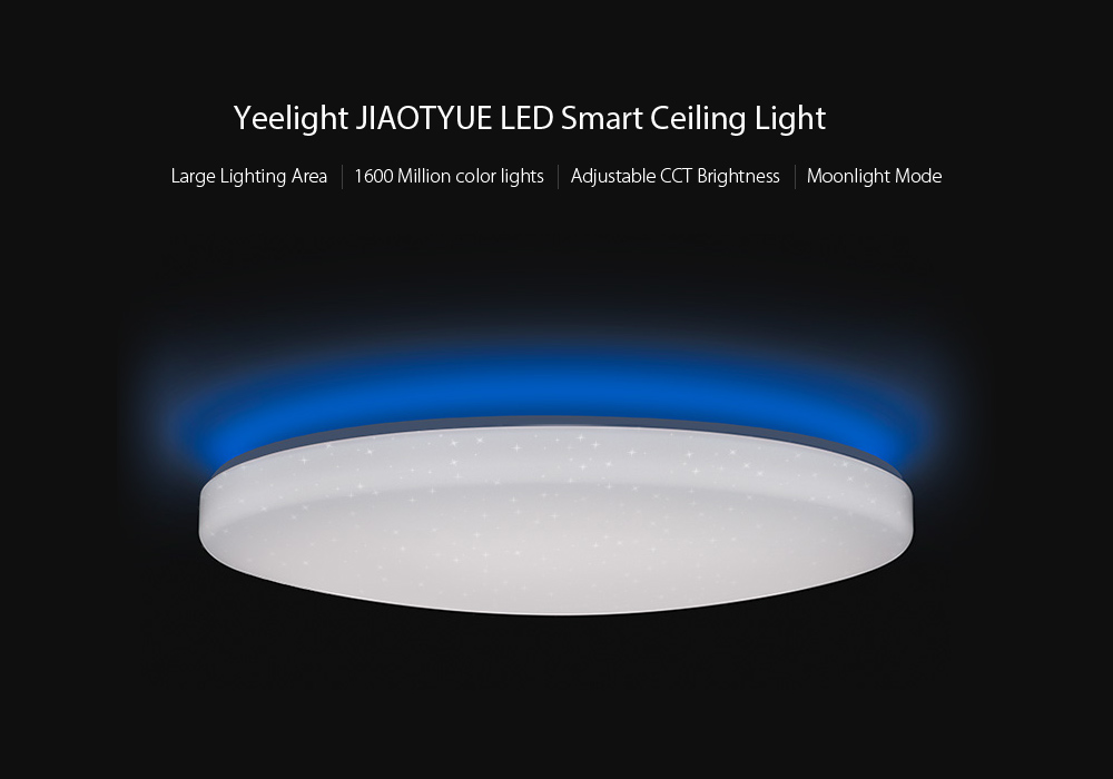 Yeelight JIAOYUE YLXD02YL 650 WiFi / Bluetooth / APP Control Surrounding Ambient Lighting LED Ceiling Light 200 - 240V- White White Lampshade