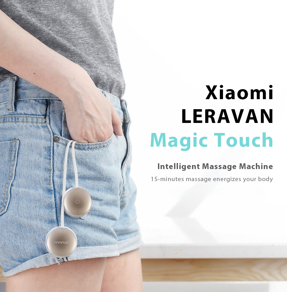 Original Xiaomi LERAVAN Magic Touch Health Care Electric TENS Pulse Massage Machine with Electrode Pads