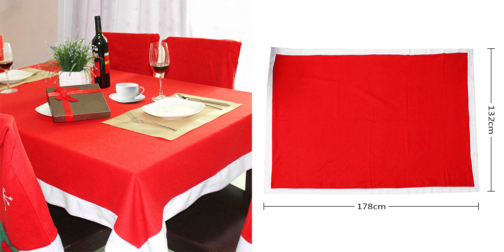Christmas Decoration Tablecloth Simple Non-woven Dining Room Kitchen Table Cover