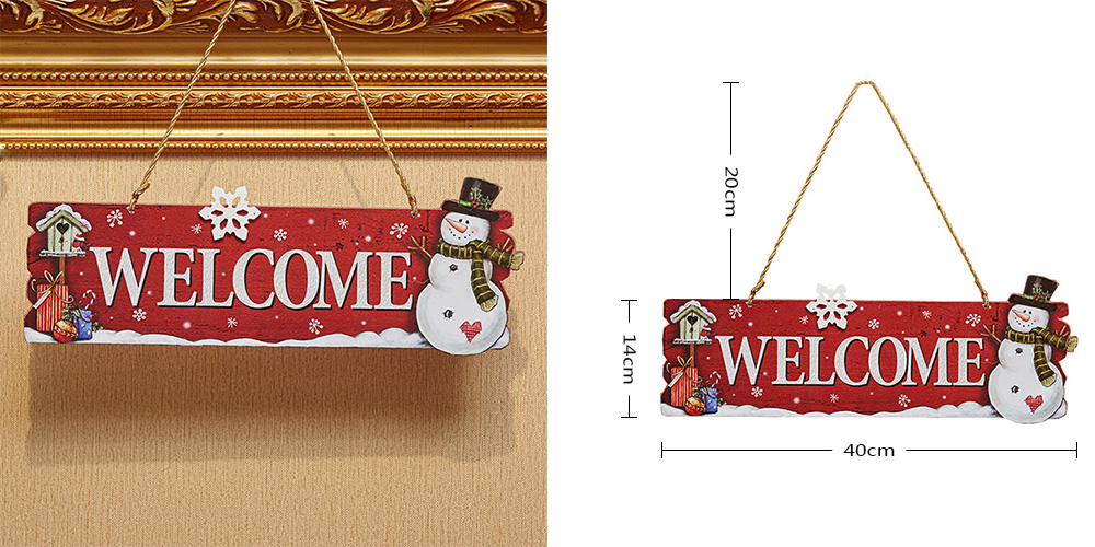 Christmas Pendant Welcome Board Door Decoration Festival Supplies