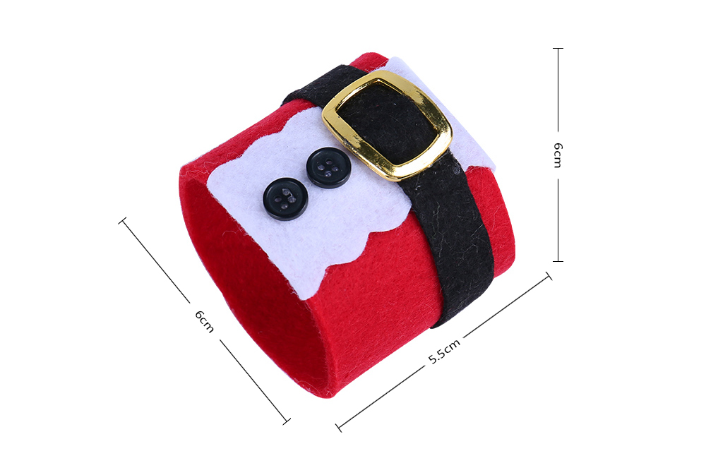 6pcs Christmas Costumes Napkin Ring Serviette Holder Party Banquet Dinner Table Decor