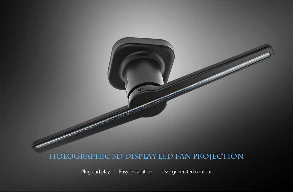 Holographic Display LED Fan Advertising Machine Creates Illusion of 3D Hologram Graphic AC 100 - 240V