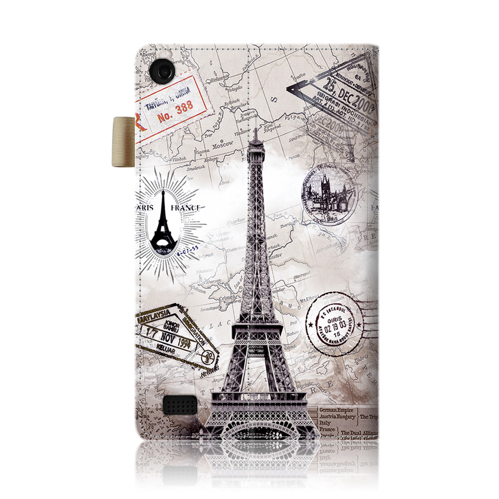 Leather Flip Case for Kindle Fire 7 inch 2017 / 2015 ...