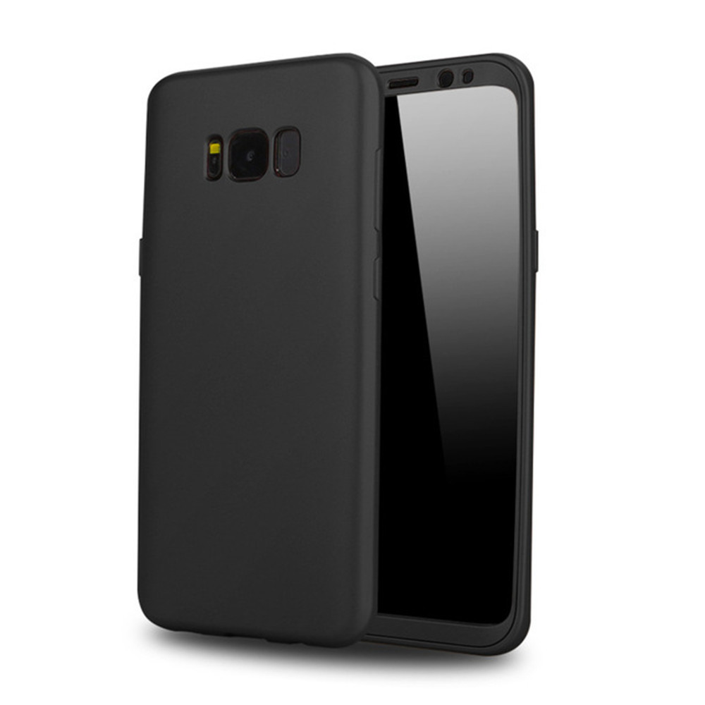 new product 31512 ef89e 360 Protected Full Phone Cover Soft TPU Silicone for Galaxy Samsung S8  Shockproof Case