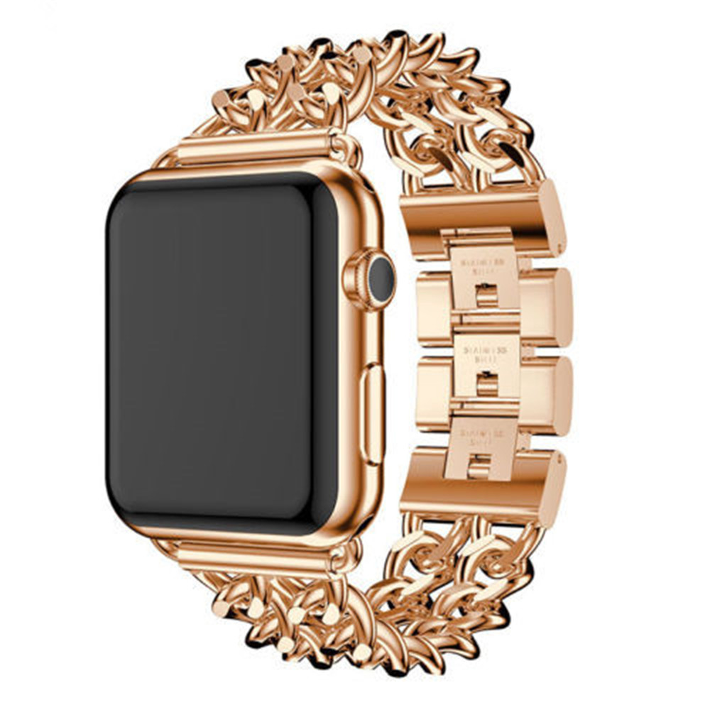 42mm Premium Stainless Steel Cowboy Style Bracelet Watch Band Strap for iWatch Series 3 / 2 / 1