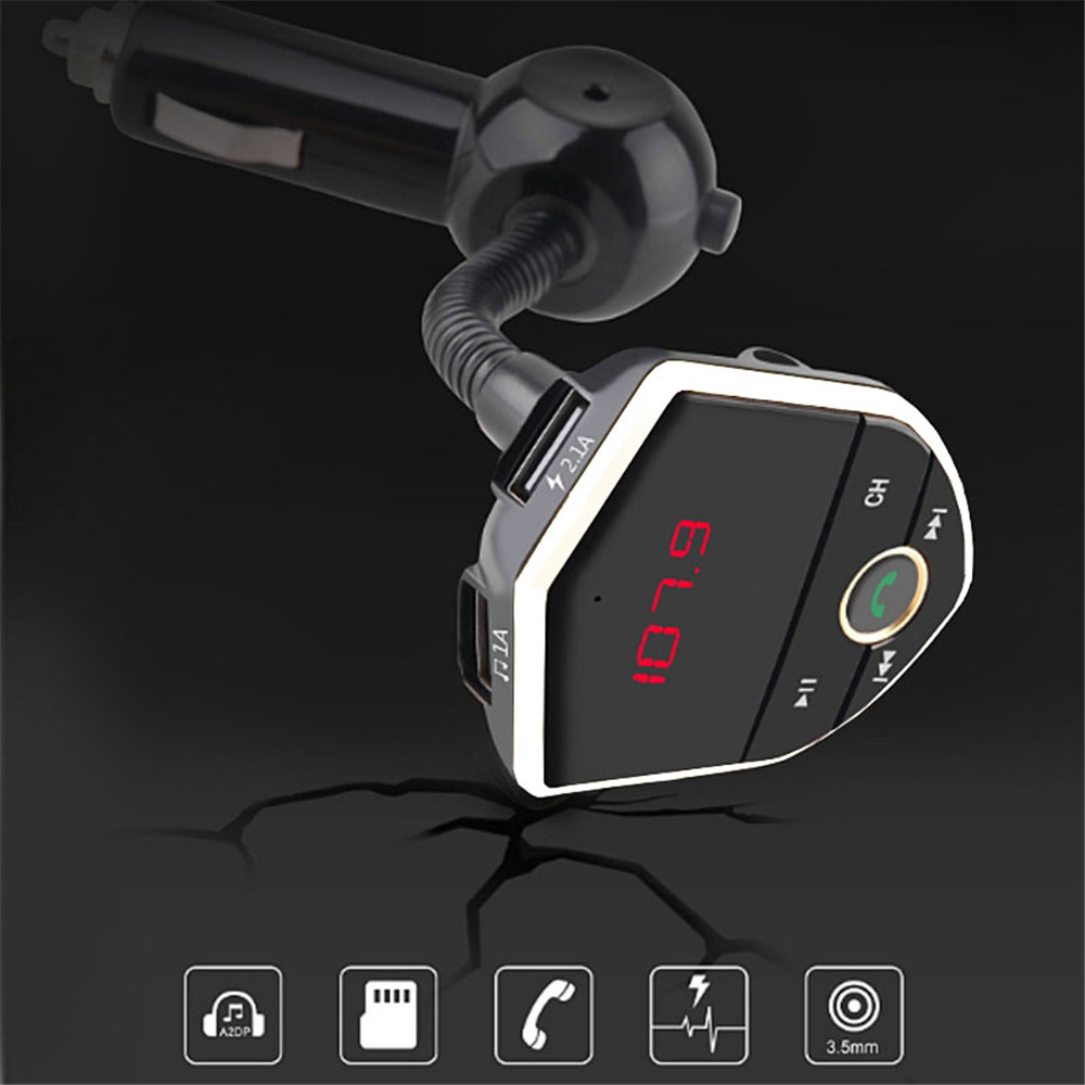 602E In-car Bluetooth Receiver MP3 Player Radio Adapter