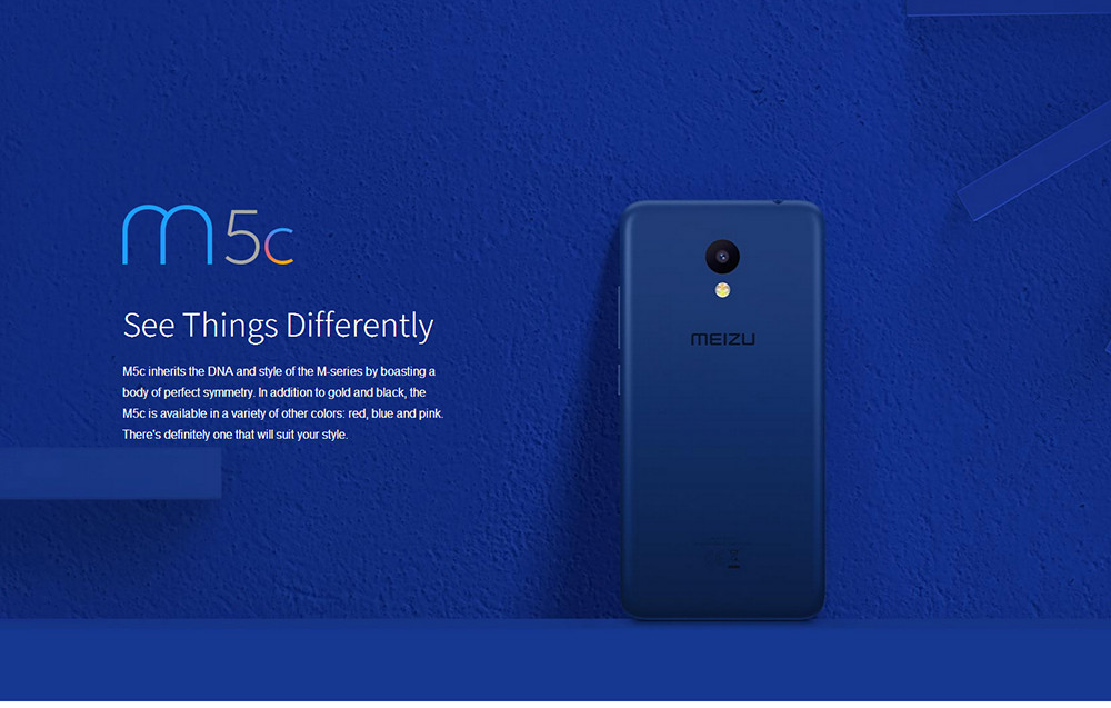 MEIZU M5C 4G Smartphone 5 0 inch Android 6 0 MTK6737 Quad Core 1 3GHz 2GB  RAM 16GB ROM 8 0MP Rear Camera Touch Sensor