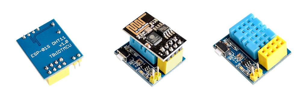 ESP8266 DHT11 Temperature and Humidity Wi-Fi Module DC 3.7 - 12V