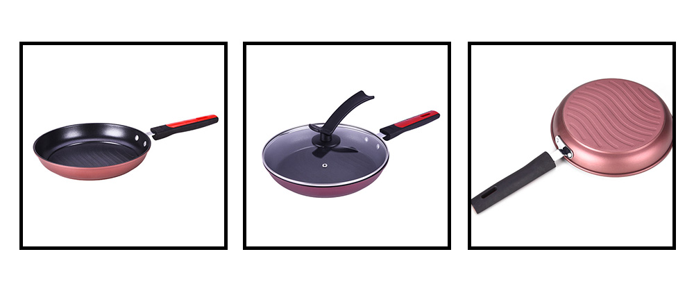 MYCH Nonstick Fry Pans Multifunctional Kitchen Cookware for Steak Eggs